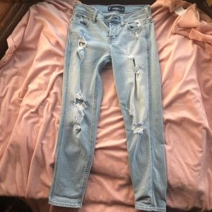 Light Blue Hollister Vintage Boyfriend Jeans